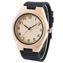 Nature Wood Watch Unisex for Couple Leather Sport Wooden Wristwatch Man Women Minimalist Arabic Numerals Fashion Lover Gifts