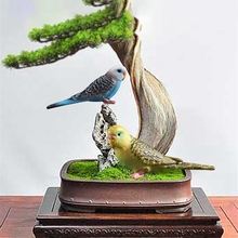 Имитация мини-попугай птица фигурка животное модель Фигурка домашний декор миниатюрная Фея Сад Двор украшение статуи скульптуры