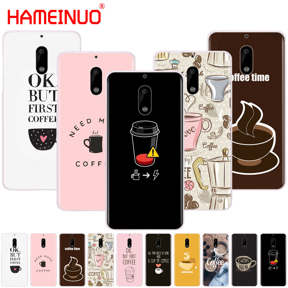 HAMEINUO coffee time Pink cover phone case for Nokia 9 8 7 6 5 3 Lumia 630 640 640XL 2018