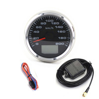 Universal GPS Speedometer Gauges Tuning 85mm Auto LCD Speed Odometers 9 32V Speed Mileometers Trip Gauge Cog 7 Colors Backlight
