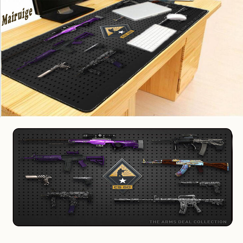 Mairuige Gun Game Mouse Pad XL 900 * 400mm for CS Games CS DIY DIY Super Photos Enlarge Border Block Size 900mm Rushed