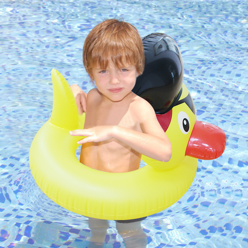Inflatable Yellow Duck Pool Float 2018 New Swimming Ring Circle for Children Kids Cute Cartoon Swmming Tube Seat Water Toys Raft