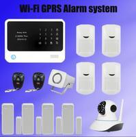 433 мГц двухстороннее домофон smart homealarm системы приложение управления G90B плюс Wi Fi GSM alarmesystems + ip камеры наблюдения + мини сирена