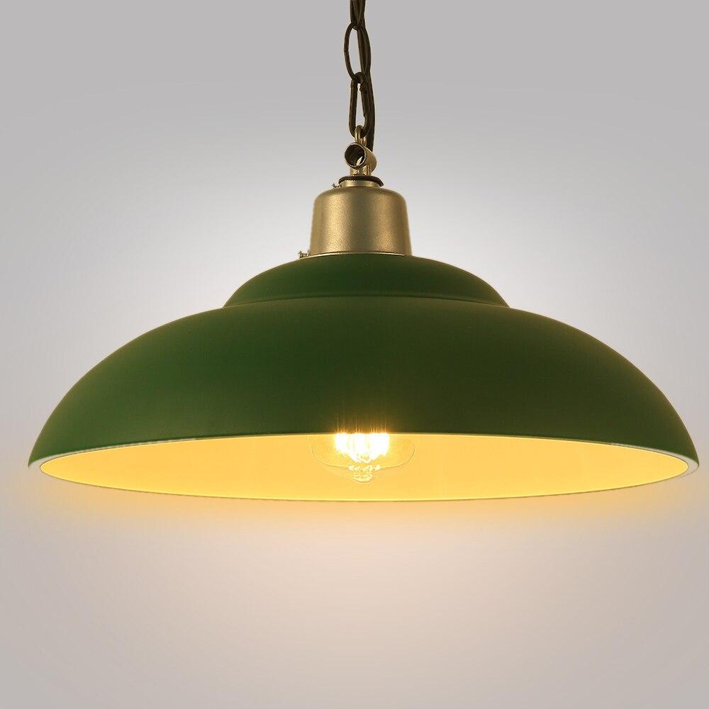 Groene industriële edison opknoping lamp vintage hanger e27 grote lichtpunt moderne deksel hanglamp grotechina