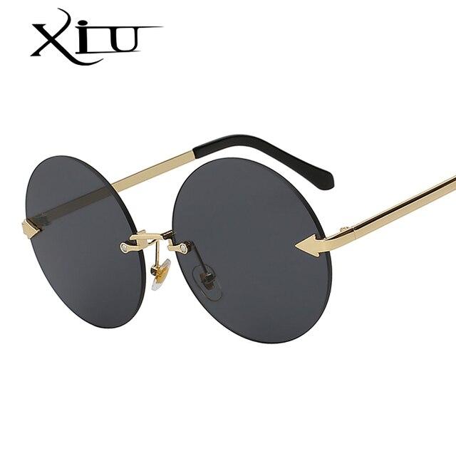 XIU Oversized Rodada Óculos De Sol Das Mulheres Do Vintage Da Moda óculos  de Sol Retro 43d831c3ea