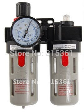Free Shipping 2PCS/Lot BFC-4000 Air Filter Regulator Lubricator Combination Air Source Treatment 1.5MPa free shipping g1 ports air filter regulator model aw5000 10 with pressure gauge 5pcs in lot high flow rate in stock