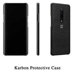 Image 4 - 100% الأصلي OnePlus 7 برو حالة OnePlus 7 برو الوفير حالة Karbon النايلون الرسمي الغطاء الواقي
