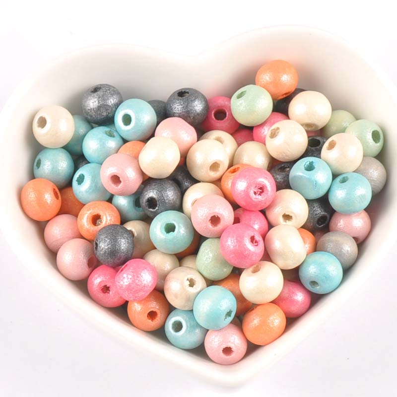 Size 8mm x5mm 20g Khaki Oval Wooden Dyed Beads Approximately 250 Beads