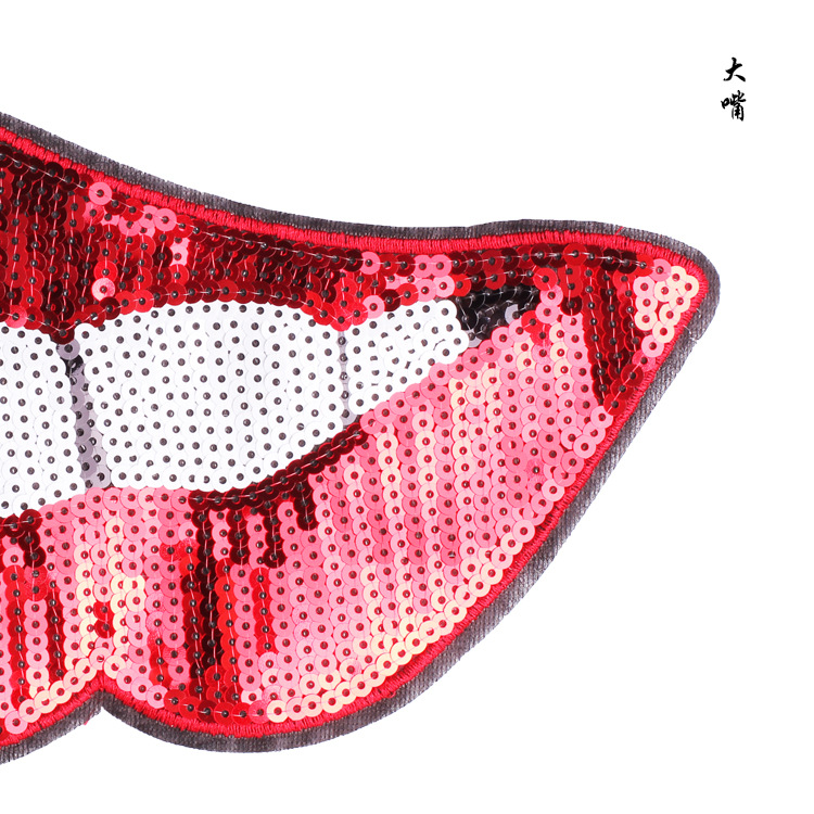 mouth sequins patches 4
