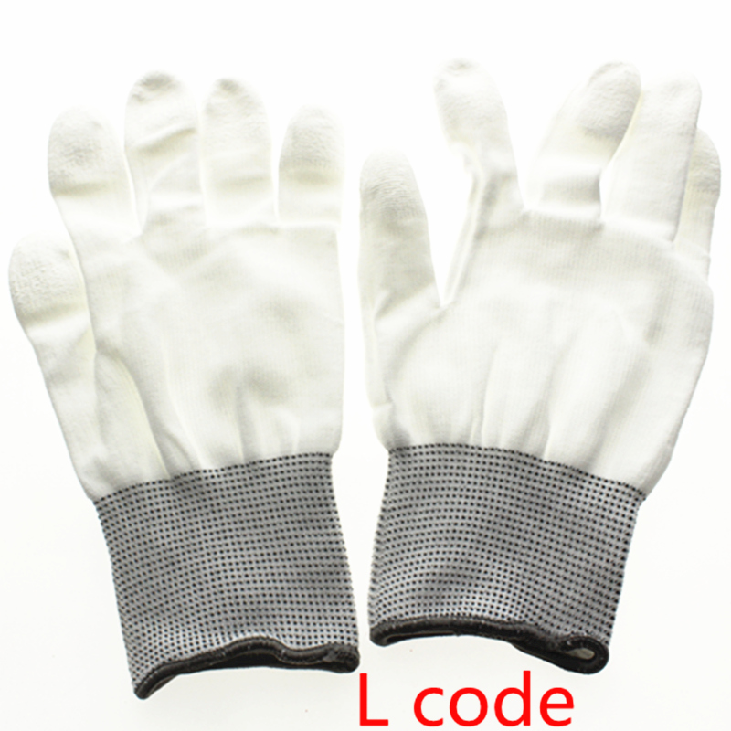 Image 5 - 100pairs Antistatic Gloves Anti Static ESD Electronic Working Gloves pu coated finger PC Antiskid for Finger Protection-in Safety Gloves from Security & Protection