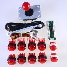 Arcade DIY Kits Parts USB Encoder To PC 5 Pin 8 Way China Joystick + 10pcs LED Illuminated Push Button For MAME Cabinet & Video