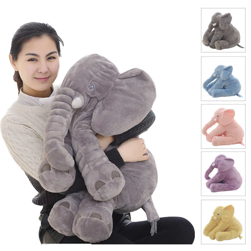 dropshipping 40 60cm appease elephant pillow soft sleeping stuffed animals plush toys baby playmate gifts for children