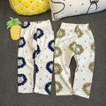 2017 Wholesale summer fashion baby cotton lion pants babys pants