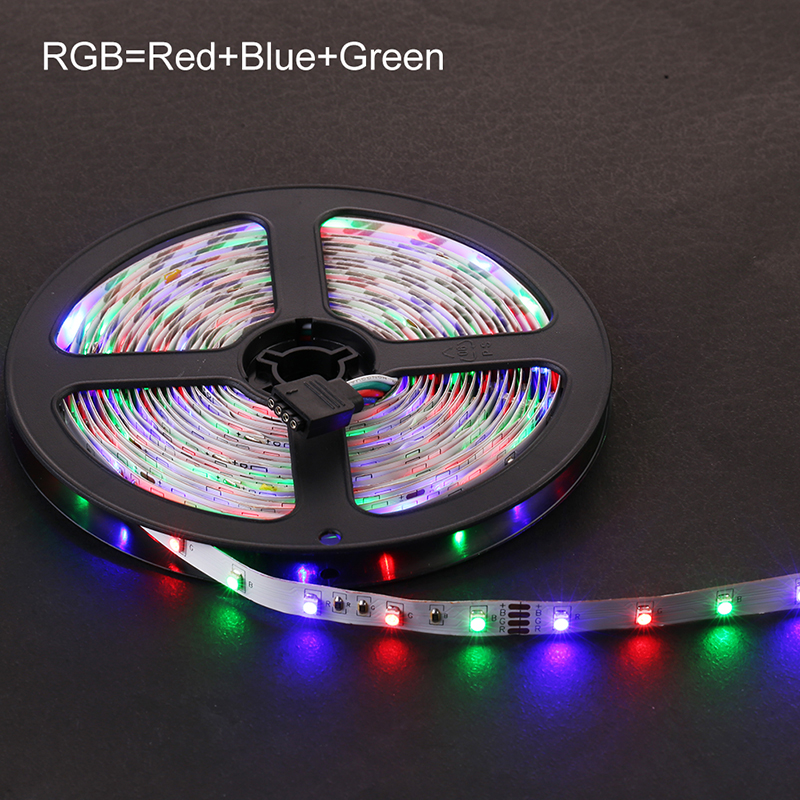 Chiclits RGB LED Strip Light 2835 SMD 5M 300LEDs IP20IP65 Flexible Light Tape With IR Remote Controller 12V 2A Power Adapter (4)