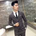 Men's suits Fashion plaid suit jacket Slim Cotton 2017 autumn and winter new High quality men's business casual Blazers XZ54