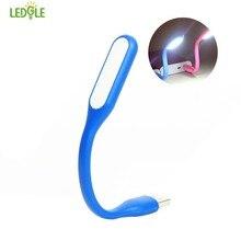LEDGLE 1.2W Bendable USB LED Light Flexible USB Lamp Portable USB Mini Lamp, Colorgul Light night lamps Portable flashlight