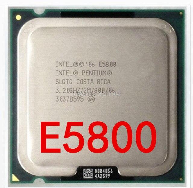 Для Intel Pentium Dual Core E5800 3.2 Г тактовой настольный компьютер CPU