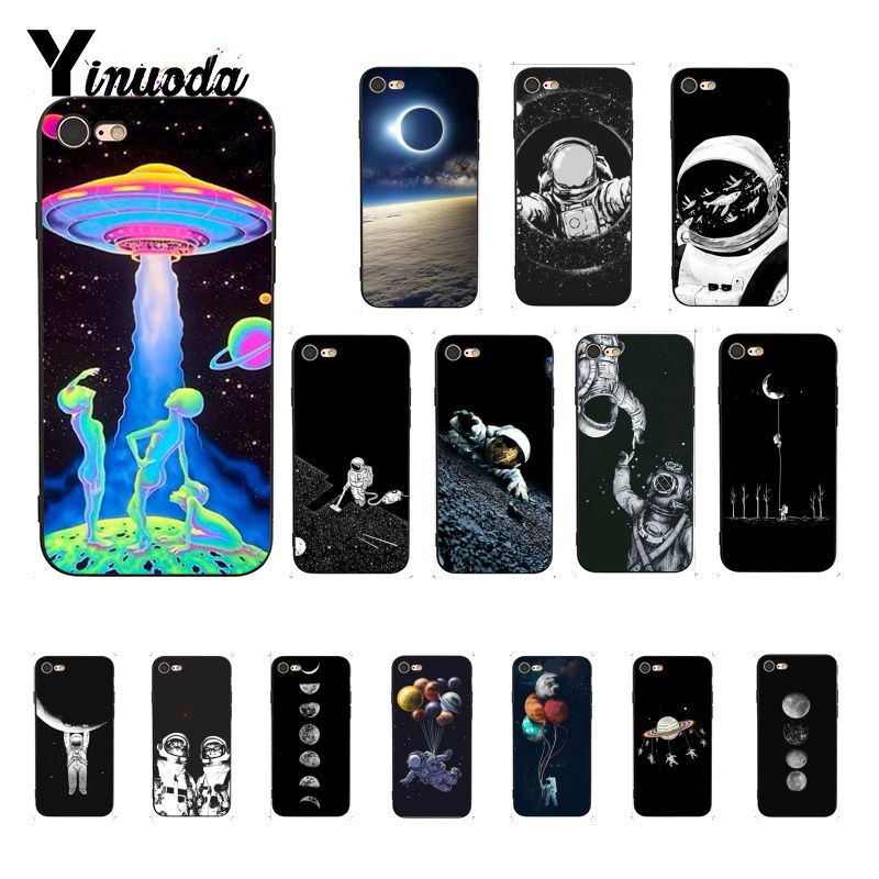 Yinuoda Space Love Moon Astronaut Luxury Unique Design <font><b>PhoneCase</b></font> for <font><b>iPhone</b></font> 6S 6plus 7 <font><b>7plus</b></font> 8 8Plus X Xs MAX 5 5S XR image