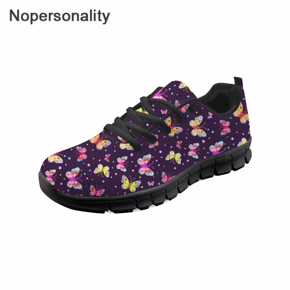 Nopersonality Women Butterfly Print Shoes Summer Spring Mesh Sneakers Ladies Breathable Soft Sole Shoes Outside Walking ShoesNopersonality Women Butterfly Print Shoes Summer Spring Mesh Sneakers Ladies Breathable Soft Sole Shoes Outside Walking Shoes