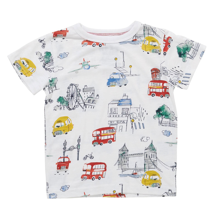 2018 Boys Brand Clothing Cute Boys T Shirt Kids T Shirt Designer Toddler Baby Boys T Shirts Tops Cotton Short Sleeve Tees