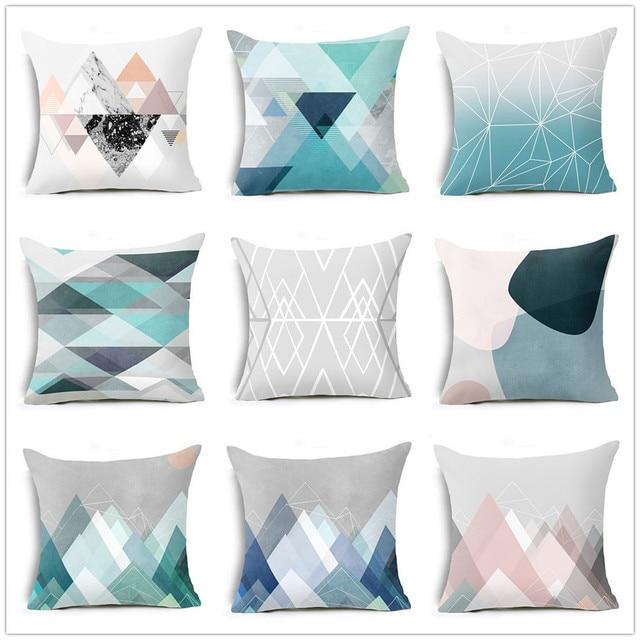 Cuscino moderno Copre Geometrica Triangoli Cuscino Suqare Caso Della Copertura D