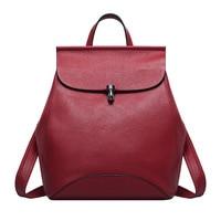 CHISPAULO 2017 New Designer Brand Fashion Black Women Genuine Leather Backpack Female School Bag For Teenage