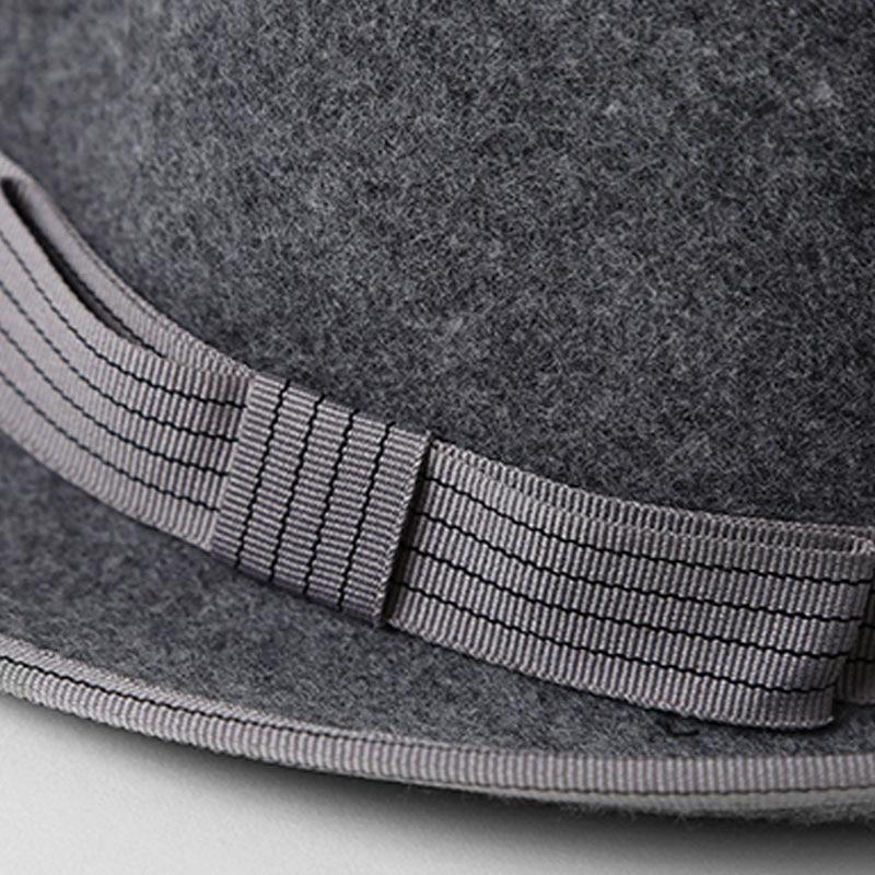 17601d45 FS Short Brim Men Fedoras Hat 100% Wool Felt For Women Vintage British Jazz  Style Fedora Black Gentleman Winter Warm Caps-in Fedoras from Apparel ...