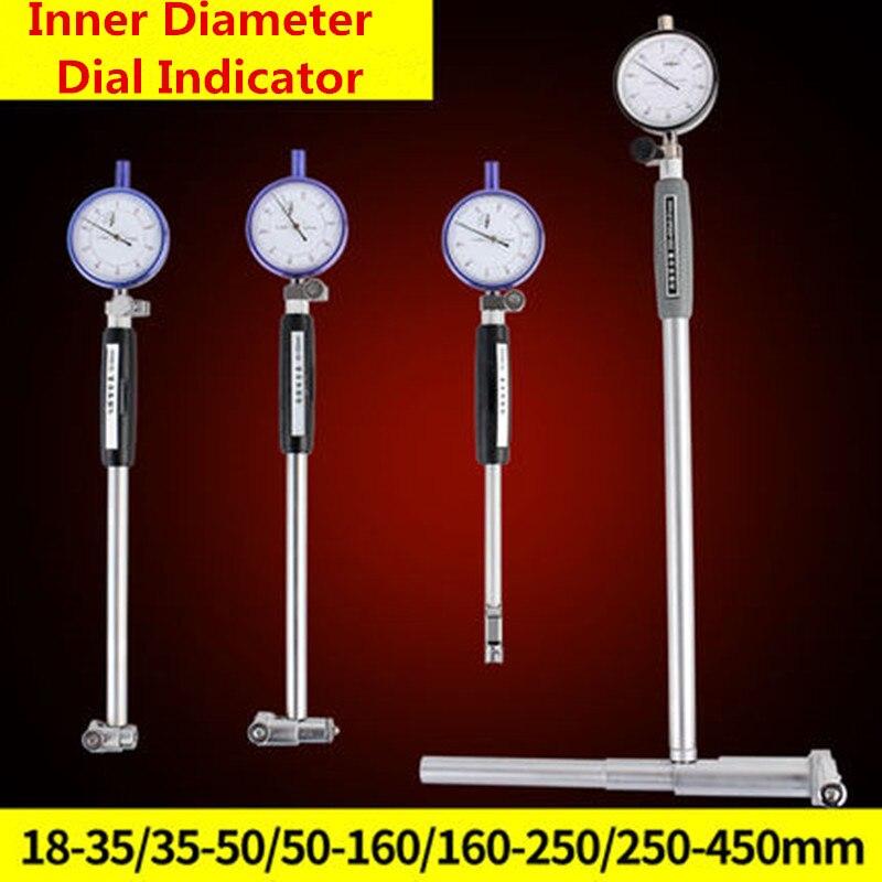 Dial Bore Gauge Hole Diameter Gauge Inside Diameter Scale Cylinder Volume Meter Dial indicator Micrometer 10-18-35-50-160MMDial Bore Gauge Hole Diameter Gauge Inside Diameter Scale Cylinder Volume Meter Dial indicator Micrometer 10-18-35-50-160MM