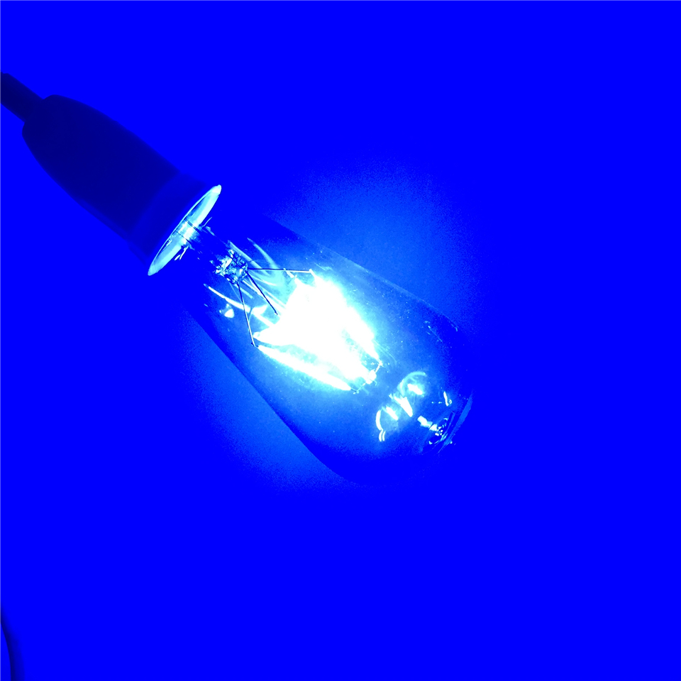 E27 LED RGB AC220V 4 W ST64 Edison ampoules Lampada verre Transparent ampoules à économie d'énergie rétro lampe à LED ampoule à Filament - 3