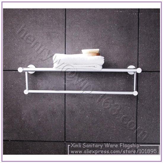 Розничная-алюминиевое модное полотенце стойки, Двухслойное Полотенце держатель настенный, L16129 - Цвет: Светло-серый