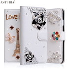For iPod Touch 5 Case Handmade Diamond Wallet PU Leather Cover For Apple iPod Touch 6 Case Luxury Rhinestone Stand Flip Fundas