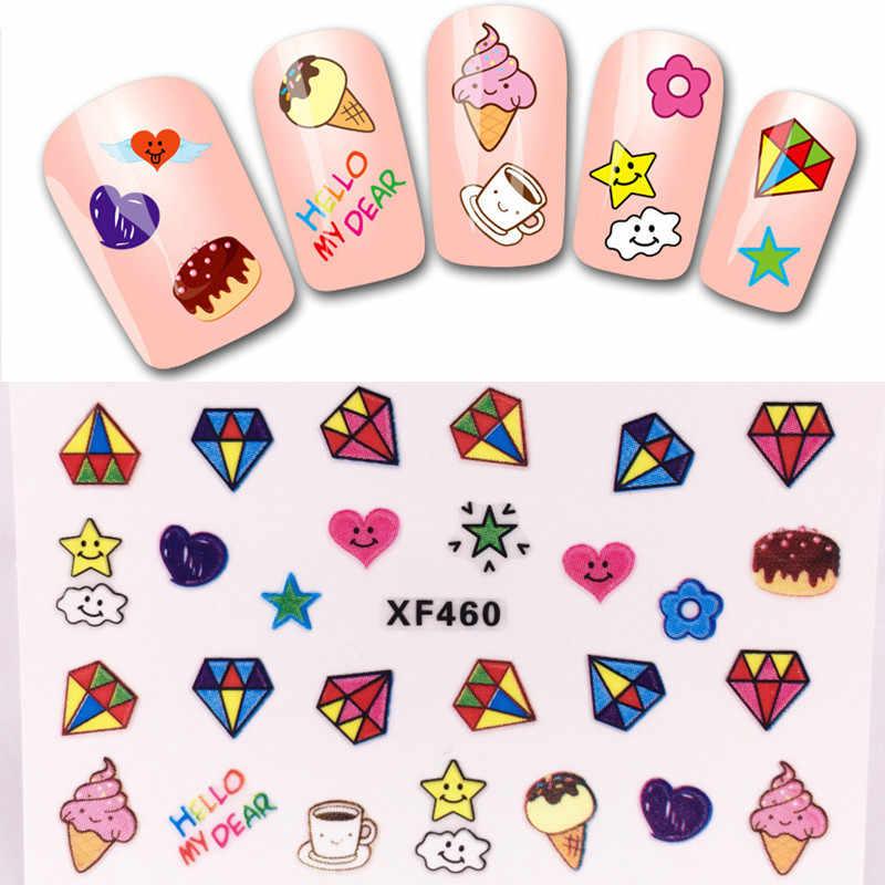 [Venta al por menor] 1 hoja de moda lindos Cubs 3D pegatinas de Arte de uñas decoración de calcomanías de manicura, 24 estilos para elegir