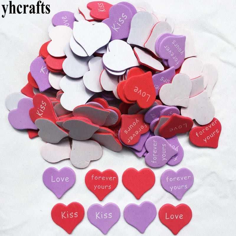 30 יחידות/הרבה. נשיקת אהבה לנצח לב קצף מדבקות האהבה יום מלאכות חתונה מסיבת קישוט ילדים diy צעצועי גן קרפט