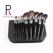 Princess Rose 11PCS Makeup Brushes set Professional with Case Soft Powder Function Eyeshadow Make up Tool Kit Goat Hair