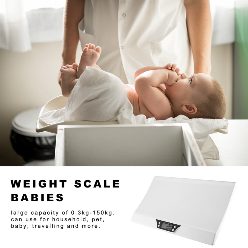 LCD Digital Electronic Stable Scale Baby Weighting Scale 20kg Mini Multifunction Low Alarm Kids Pet Body Weight Meter BS 199 in Weighing Scales from Tools