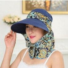 wide brim floral neck face protection beach hat for women removable lady women dress hat panama chapeau femme female sunbonnet