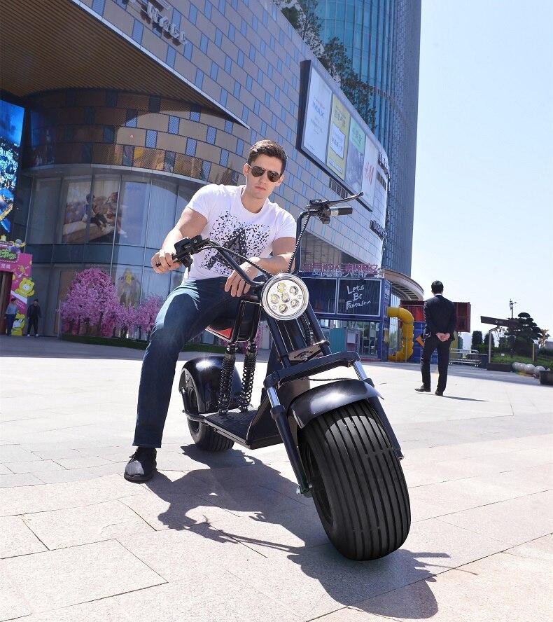 Batterie au Lithium électrique Citycoco Scooter e-bike 60 V 12/20AH Double frein à disque système antivol Moto Electrica Moto