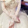 Lace Apliques Longo vestido de Noiva Luvas Sem Dedos de Luvas de Casamento De Marfim handschuhe BV-043 hochzeit