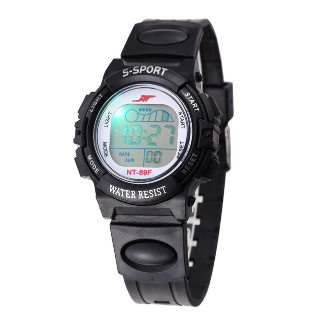 Children Watch Sports Electronic Digital LED Watch Boy Watch LED Digital Wrist Watch Luminous Alarm Wristwatch horloges mannen