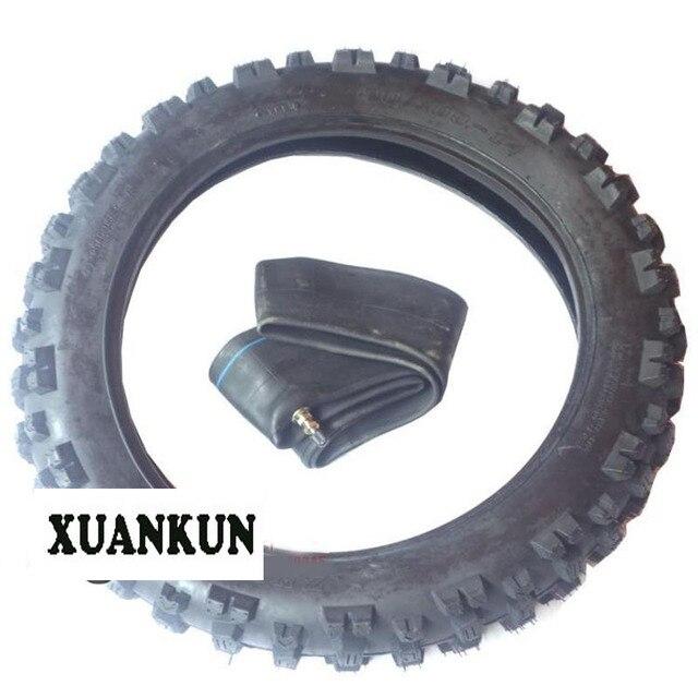 Xuankun Accessoires De Moto Tout Terrain 90 100 14 Moyeu Pneu Interieur Et Exterieur Pneus Arriere Pouces