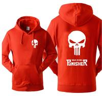 Super Hero The Punisher Skull Hooded Men 2017 Hot Sale Autumn Winter Warm Fleece High Quality
