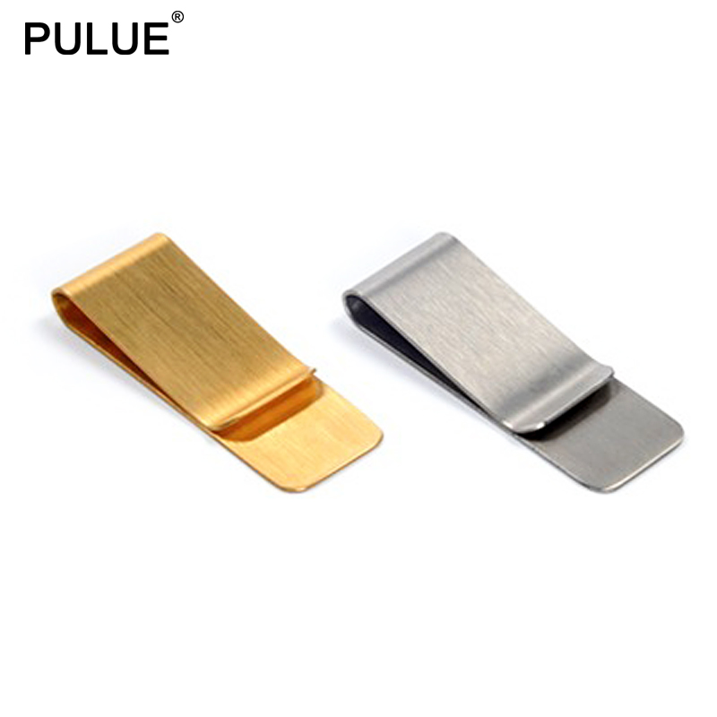 Stainless Steel Money Clips Cash Card Tickets Holders Brass Wallet Pen Clip Convenient And Practical Pocket Metal Money Holder