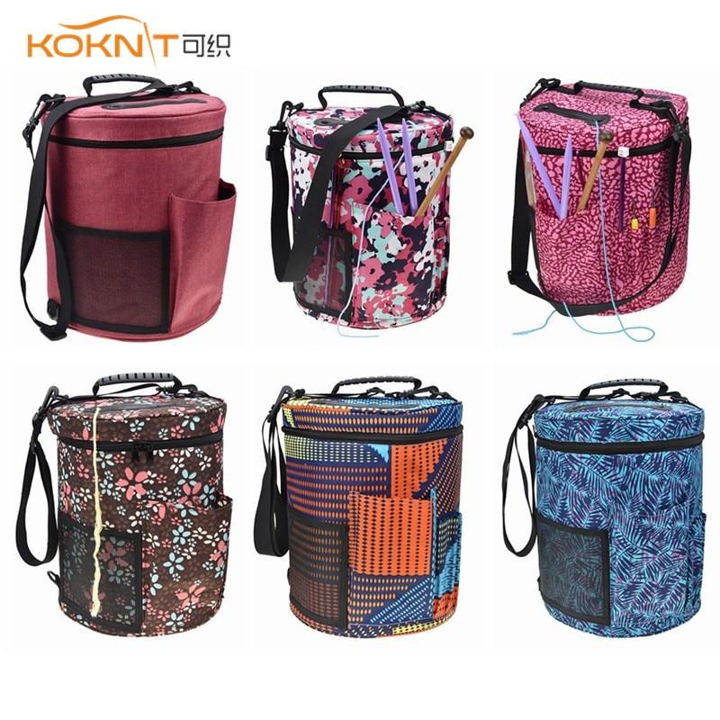 Knitting Yarn Storage Bag Organizer Crochet Hook Bag Lots Of Space & Pockets Crochet Storage & Knitting Accessories Organizer