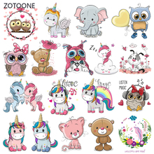 ZOTOONE Animal Stripes Iron on Transfer Patches Clothing Diy Dog Patch Heat for Clothes Girl T-shirts Sticker M