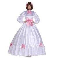 Sissy Girl Gothic Ball Gown Lovely Stain Bow Long Dress Uniform Crossdress Cosplay Costume