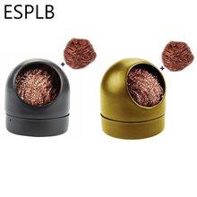 Esplb preto/ouro solda de solda clipe de ferro limpeza aço com esponja e suporte