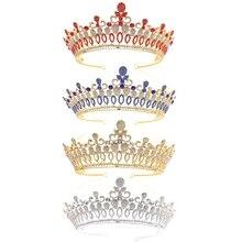 Baroque Bride Crown Wedding Tiara Vintage Jewelry Women Headwear Luxury Headband barroco headband crown europe and large baroque married crown tiara women jewelry