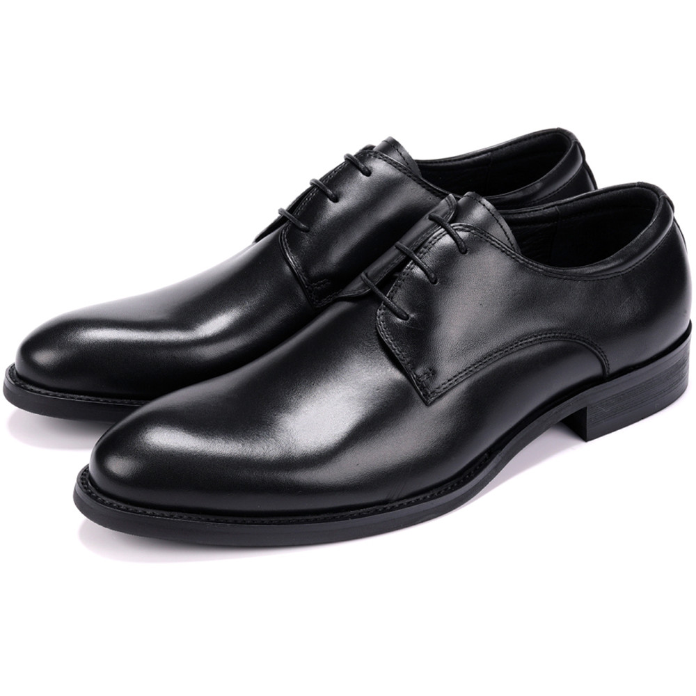 Fashion Derby Mens Dress Shoes Genuine Leather Business Shoes Male Formal Wedding Groom ShoesFashion Derby Mens Dress Shoes Genuine Leather Business Shoes Male Formal Wedding Groom Shoes