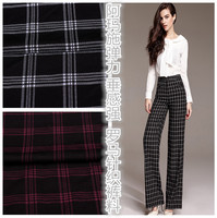 Exclusive Black And Red Striped Dress Pants Stretch Knit Fabric Cloth Couture Fabrics