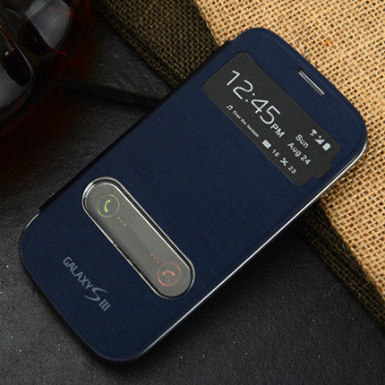brand new 252df 3b96a US $3.79 |1x Luxury View Windows Flip Cover Case For Samsung Galaxy S3 Neo  I9301 S3 Duos GT I9300i SIII Neo Battery Housing Cover on Aliexpress.com |  ...